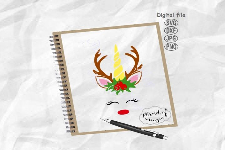 Reindeer Unicorn Svg, Unicorn Deer Svg, Unicorn Svg
