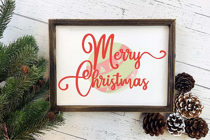 Merry Christmas SVG, Christmas Sign Sublimation