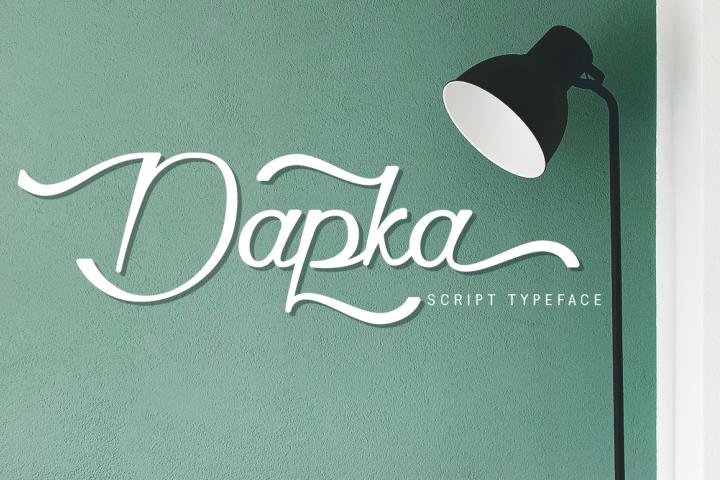Dapka - Script Typeface