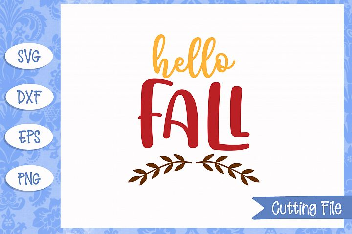 Hello Fall SVG File