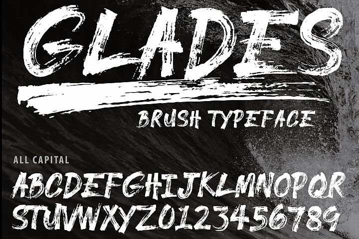 GLADES Brush Typeface