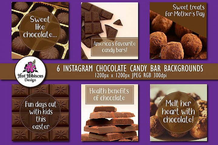 Chocolate Candy Bar Instagram and Facebook Food Backgrounds