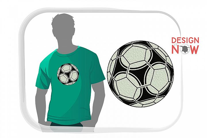 Soccer Ball Embroidery Design, Sport Embroidery Pattern