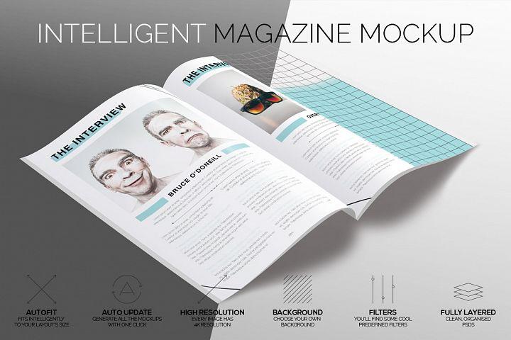 Intelligent Magazine Mockup