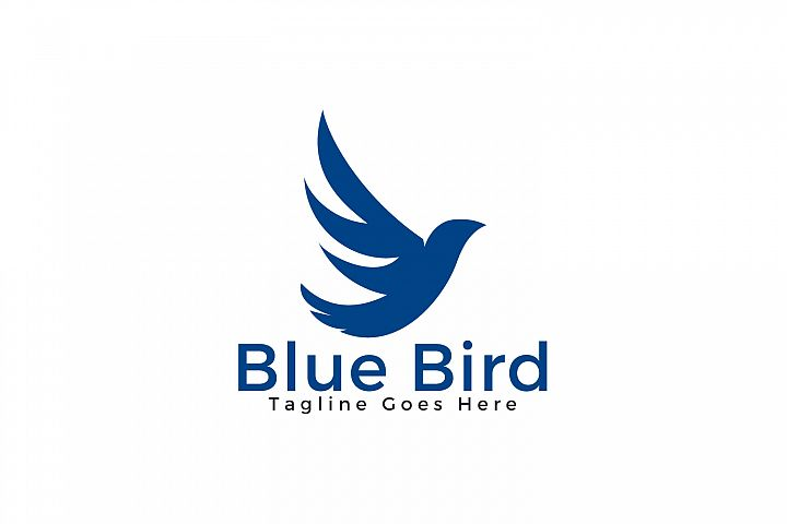 Blue Bird Logo Design.