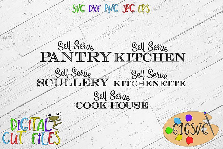 Kitchen Signs SVG