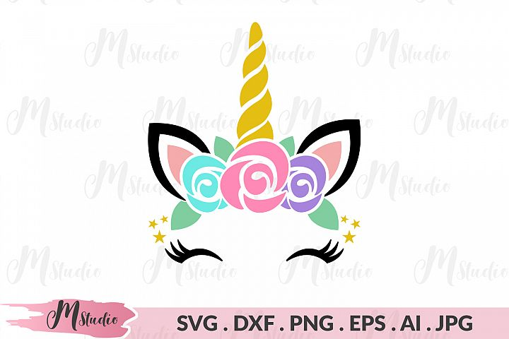 Unicorn flower svg