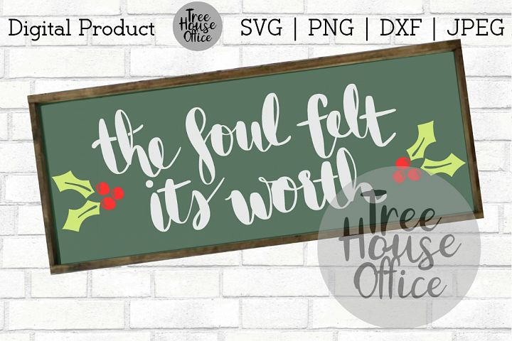 Soul Felt Its Worth Christmas Song Quote Holy Night SVG DXF