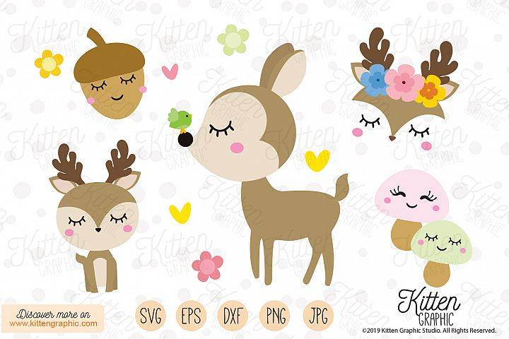 Deer Set - Graphics
