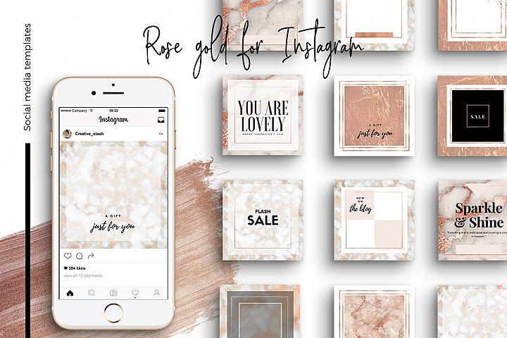 Rose gold Instagram part 2