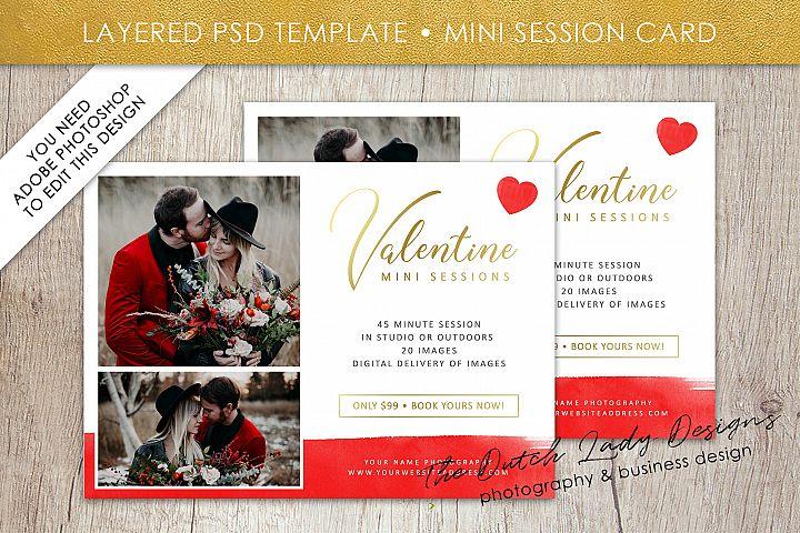 PSD Photo Mini Session Card Template - Design #27