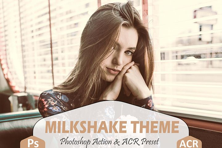 Milkshake Photoshop Action And ACR Presets, Peachy Ps preset