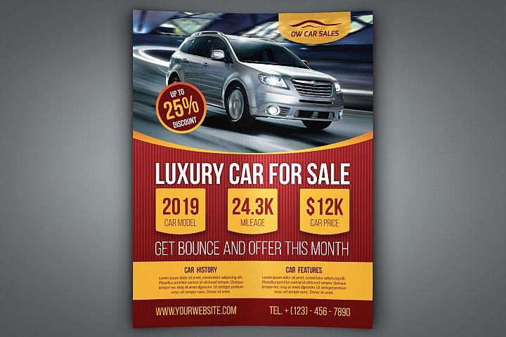Car for Sale Flyer