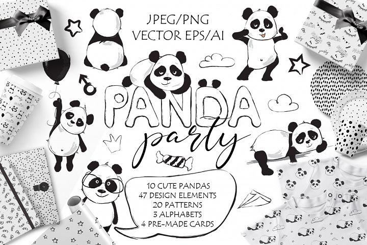 Panda Party cute set
