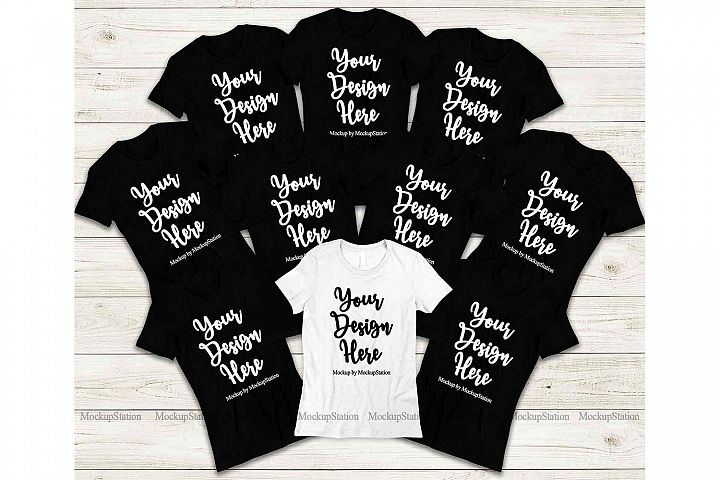 Bridesmaid Shirts Bachelorette Group Bride Squad Mockup