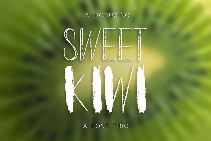Sweet Kiwy: font trio