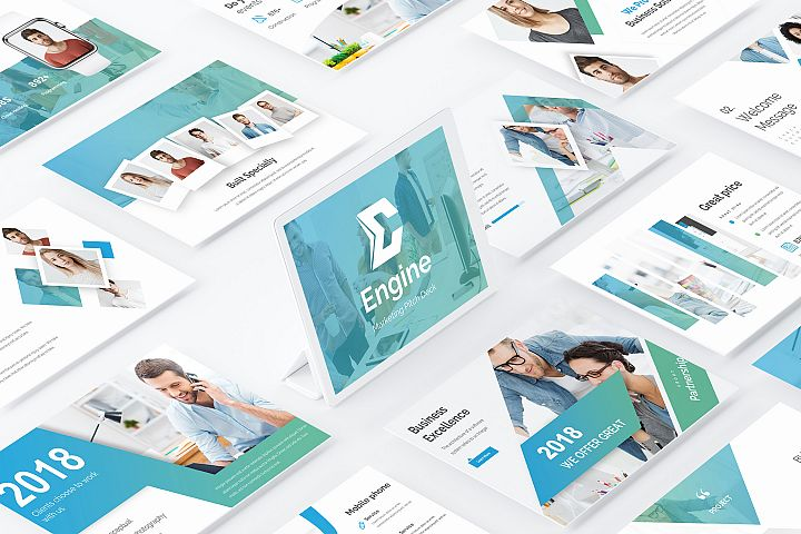 Engine Marketing Pitch Deck Powerpoint Template
