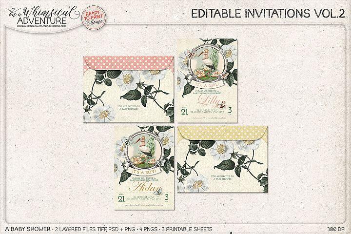 Editable Invitations Vol.2