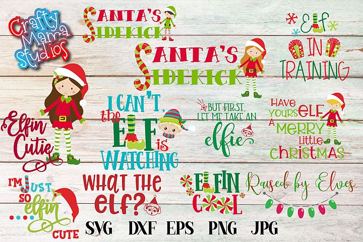 Christmas Elf Bundle, Elf SVG Sublimation, Elfin Cool SVG