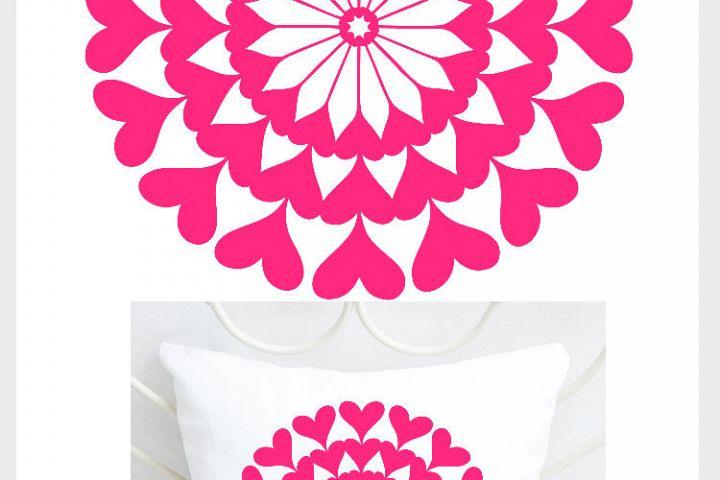 Mandala SVG - Heart mandala svg example 1