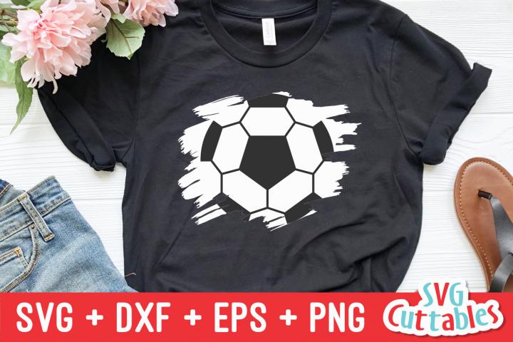 Soccer Ball Paint Stroke   Soccer SVG Cut File