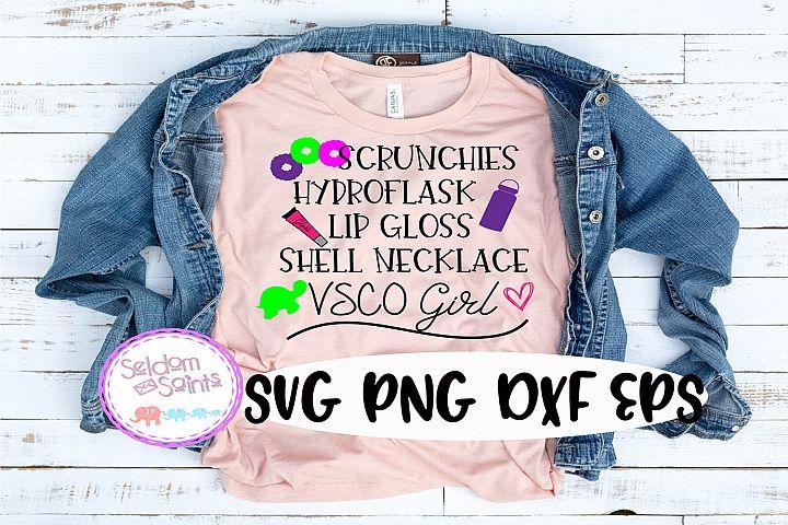 VSCO Girl SVG PNG EPS DXF
