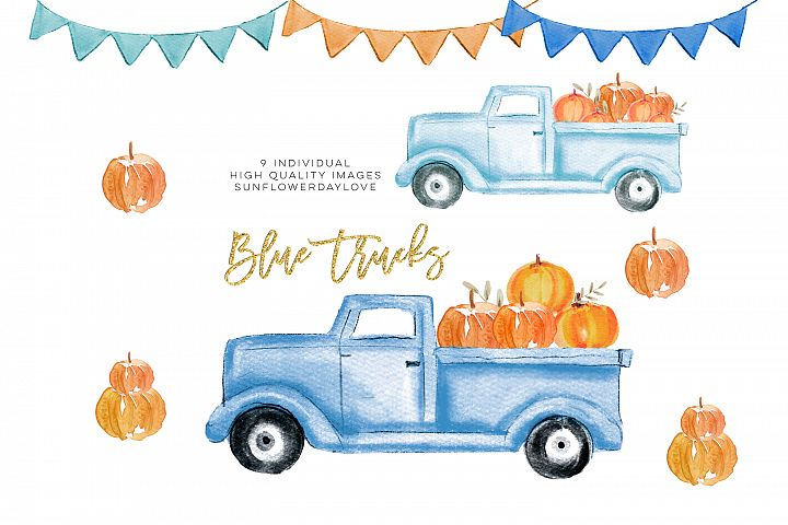 Fall Pumpkin Truck Clipart, Thanksgiving clipart