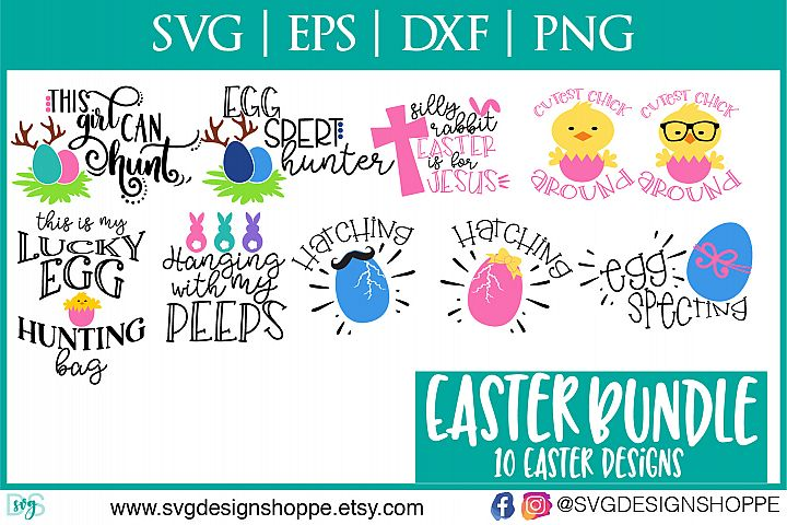 Easter, SVG, Bunny, Ears, DXF, EPS, PNG, Cutting Files