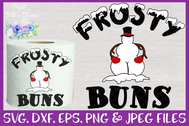 Frosty Buns SVG - Christmas Toilet Paper Design