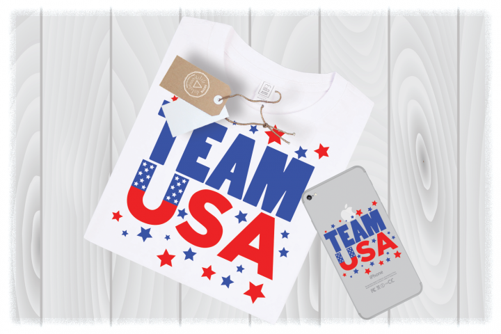 Team USA SVG Files Independence Day 4th of July Cut Designs – Independence Day SVG – Memorial Day SVG – Fourth of July SVG