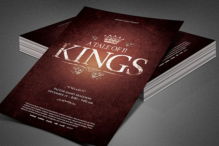 A Tale of Two Kings Church Flyer