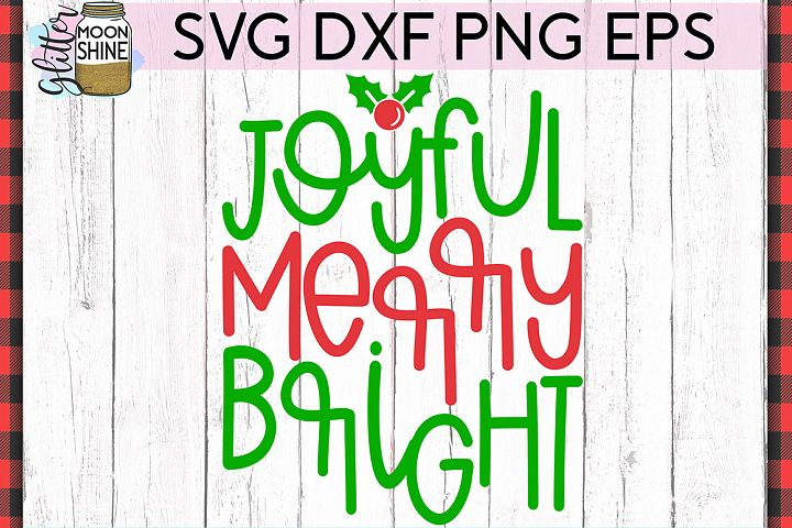 Merry Bright Christmas SVG DXF PNG EPS Cutting Files