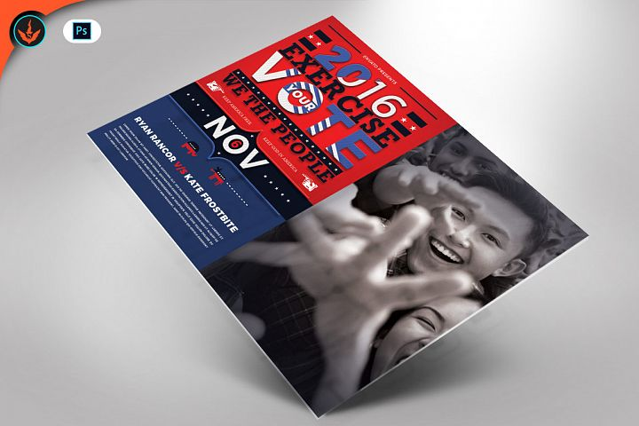 Political Flyer Mailer Photoshop Template 4