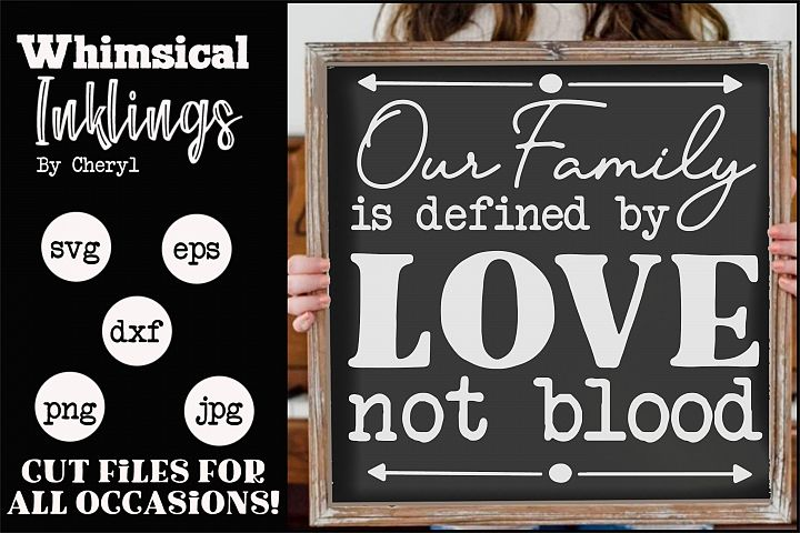 Defined By Love-Family SVG