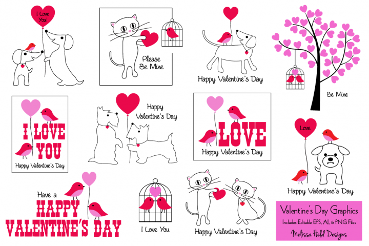 Valentines Day Card Graphics