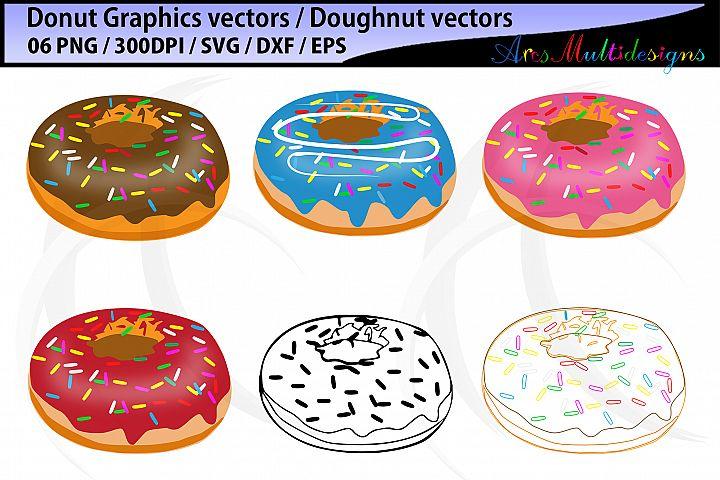 Donut SVG / Doughnut SVG / Donut Cut File / Sprinkle Donut