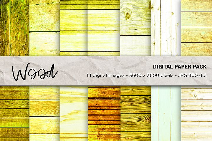 Wood Digital Papers, Wood Background, Wood Textures