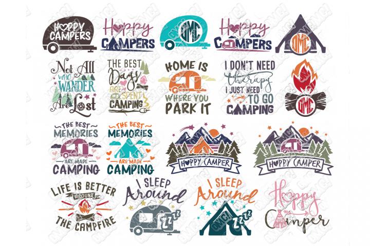Camper SVG Bundle Camping
