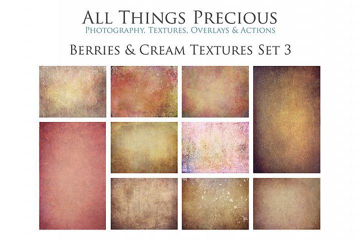 10 Fine Art BERRIES & CREAM Textures SET 3