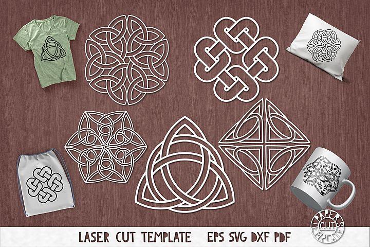SVG Set of celtic knots for laser cutting. Irish ornaments.