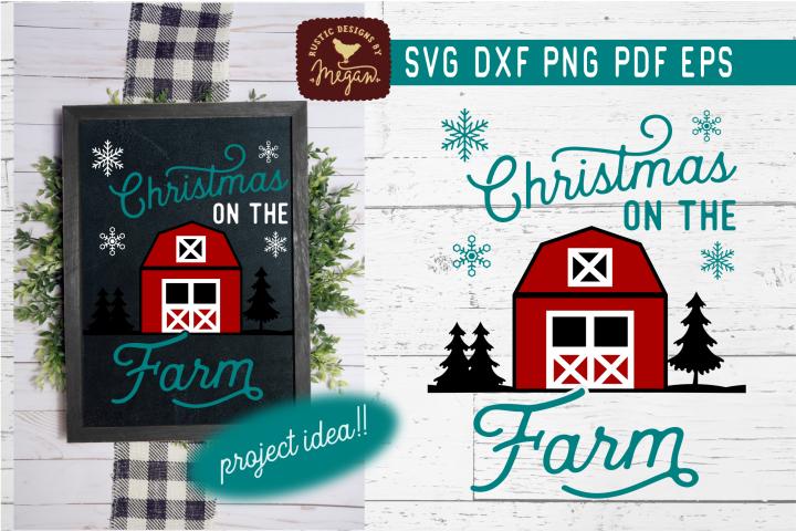 Christmas On The Farm Farmhouse SVG DXF Cut File
