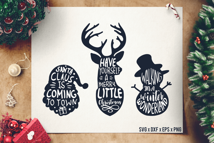 Christmas Sayings SVG Bundle - Christmas Quotes SVG - DXF II