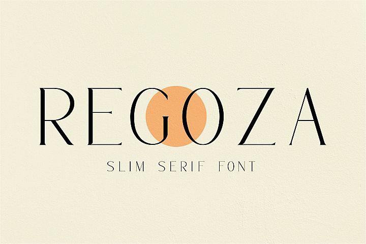 Regoza -Typeface Slim Font