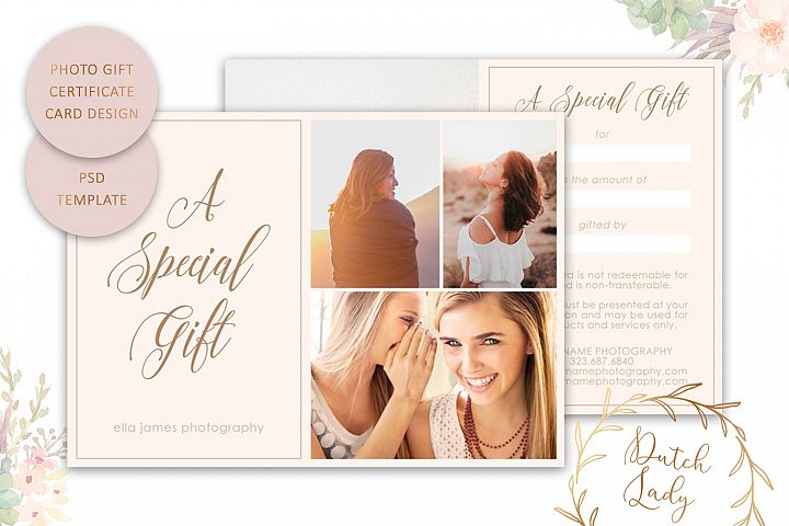 Photo Gift Card Template for Adobe Photoshop - #15