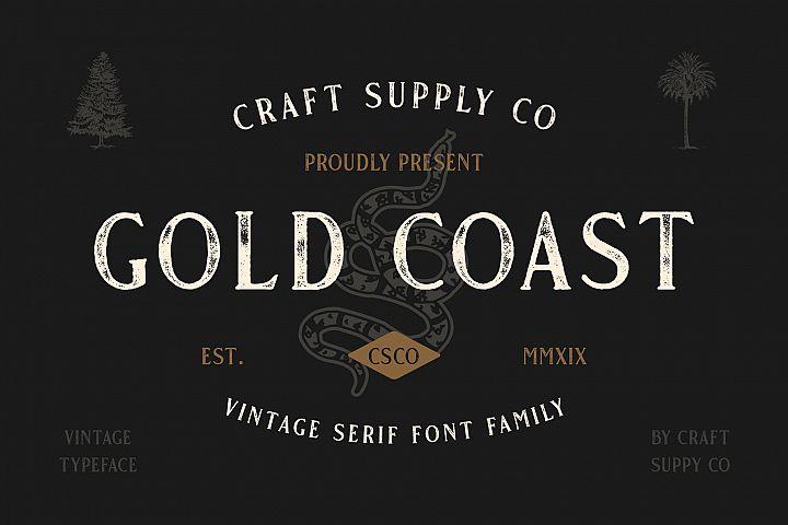 Gold Coast - Vintage Serif Bonus Logo