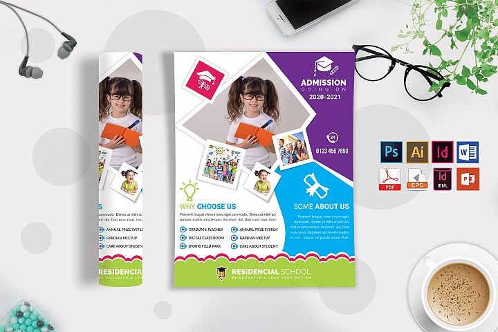 School Flyer Template Vol-08
