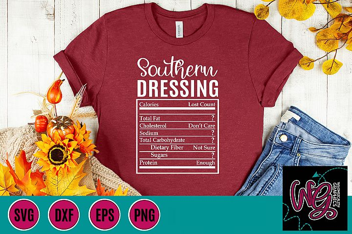Holiday Food Funny Southern Dressing SVG, DXF, PNG