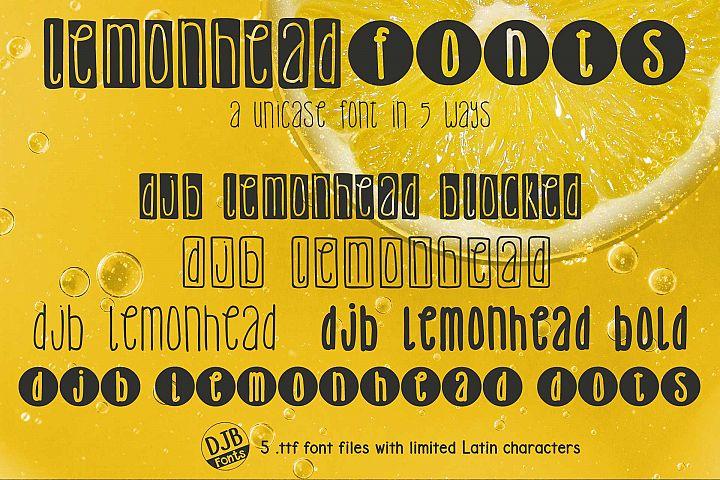 DJB Lemonhead Font Bundle