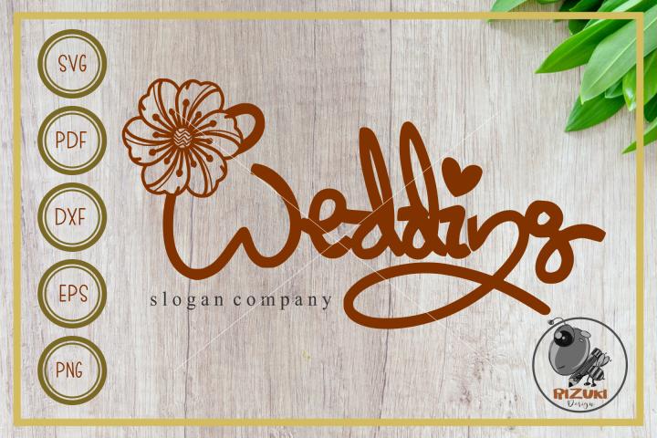 Wedding svg, wedding letter with floral, cut file, clip art