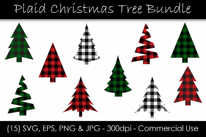 Christmas Tree Buffalo Check Plaid Bundle